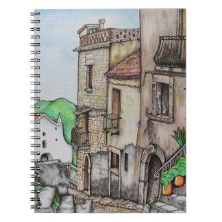 Via Costarella and Monastery Notebook