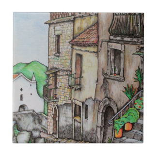 Via Costarella and Monastery Tile