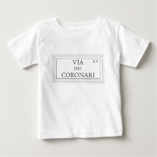 Via dei Coronari, Rome Street Sign Baby T-Shirt