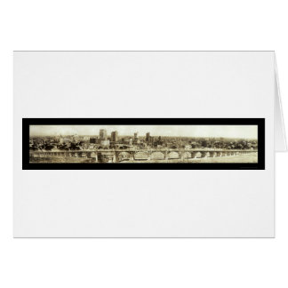 Viaduct Dallas Skyline Photo 1912 Card