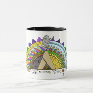 Vibe Out with my Tribe Out rainbow Mug