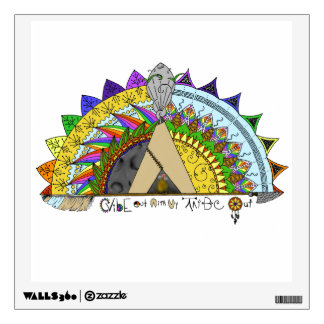 Vibe Out with my Tribe Out rainbow Wall Sticker