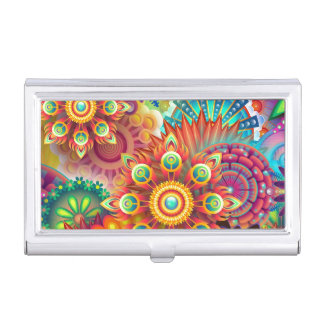 Vibrant Abstract Business Card Case