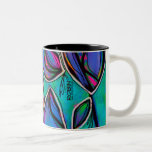 Vibrant Abstract Floral Mug