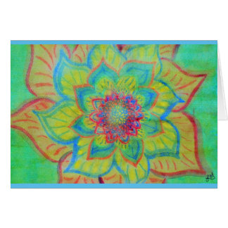 Vibrant Abstract floral watercolor Card