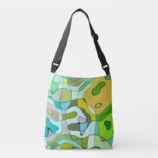 Vibrant abstract pattern crossbody bag