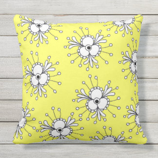 Vibrant abstract pattern outdoor pillow