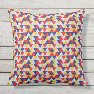 Vibrant abstract pattern throw pillow