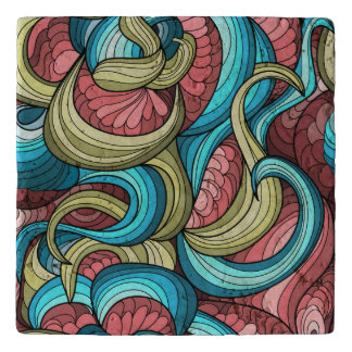 Vibrant abstract pattern trivet