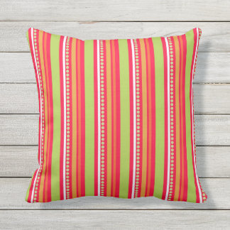 Vibrant abstract stripe pattern throw pillow