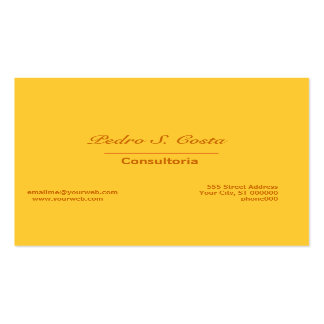Vibrant abstract yellow pack of standard business cards