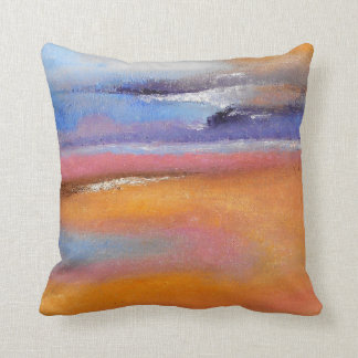 Vibrant Amber Abstract Thow Pillow