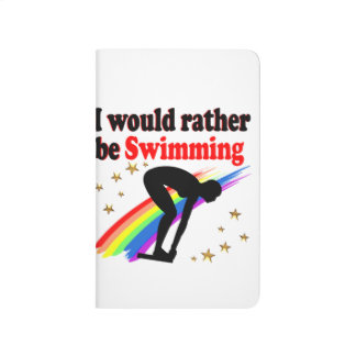 VIBRANT AND COLOR I WOULD RATHER BE SWIMMING JOURNAL