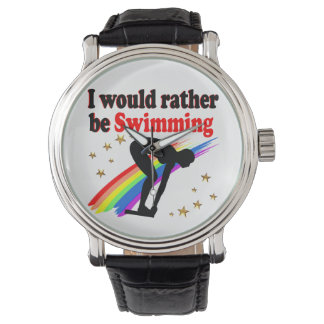 VIBRANT AND COLOR I WOULD RATHER BE SWIMMING WATCHES