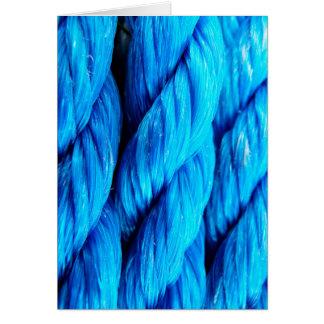 Vibrant Aqua Blue Boat Rope - Nautical Print Card