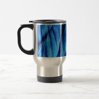 Vibrant Aqua Blue Boat Rope - Nautical Print Travel Mug