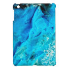 Vibrant Aqua Blue Mineral Stone iPad Mini Cover