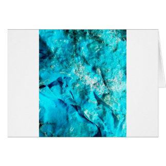 Vibrant Aqua Blue Turquoise Mineral Stone Card