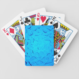 Vibrant Aquamarine Turquoise Rain on glass Bicycle Playing Cards