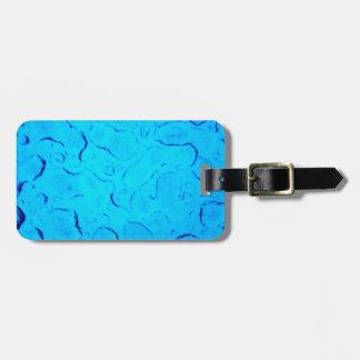 Vibrant Aquamarine Turquoise Rain on glass Luggage Tag