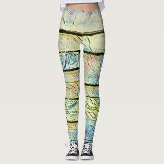Vibrant Artistic Pastel Colored Bricks Leggings