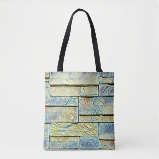 Vibrant Artistic Pastel Colored Bricks Tote Bag