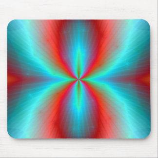Vibrant Aurora Implosion Abstract Art Mousepad