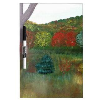 Vibrant Autumn Dry Erase Board