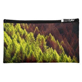 Vibrant Autumn Pine Cosmetic Bag