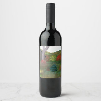Vibrant Autumn Wine Label