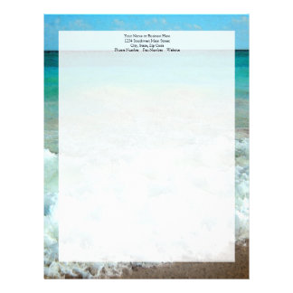 Vibrant Beach Watercolor Scene Letterhead