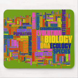 Vibrant Biology Wordle Mouse Mat Mouse Pad