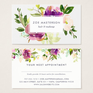 Vibrant Bloom | Watercolor Floral Appointment Card