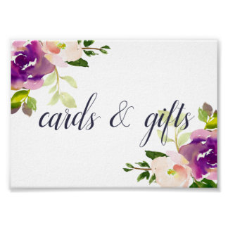 Vibrant Bloom Wedding Cards & Gifts Sign