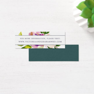 Vibrant Bloom Wedding Website Cards | Mini