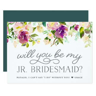 Vibrant Bloom | Will You Be My Jr. Bridesmaid Card