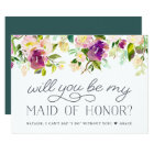 Vibrant Bloom | Will You Be My Maid of Honour Card