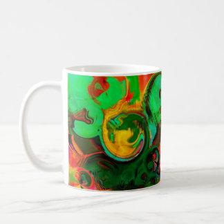 Vibrant  blue  ABSTRACT 2 Coffee Mug