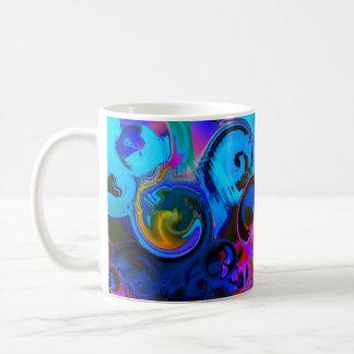 Vibrant  blue  ABSTRACT Coffee Mug
