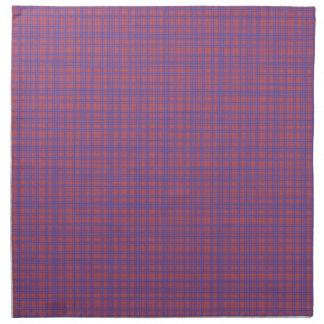Vibrant Blue and Pink Plaid Cloth Napkin