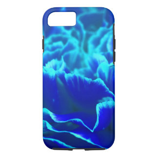 Vibrant Blue and Teal Carnation Flower iPhone 7 Case