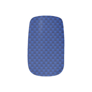 Vibrant Blue Carbon Fiber Like Print Background Minx Nail Art