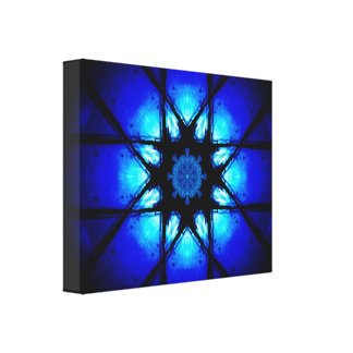 Vibrant Blue Mandala Canvas Print
