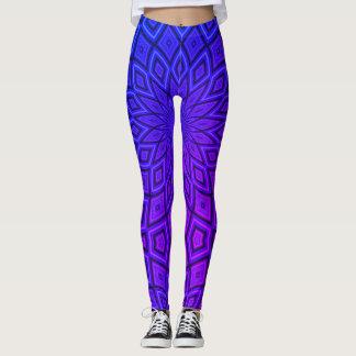 Vibrant Blue & Purple Aztec Leggings