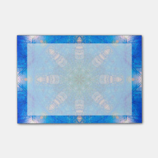 Vibrant Blue Star Mandala Post-it Notes