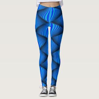 Vibrant Blue Zig Zag Leggings
