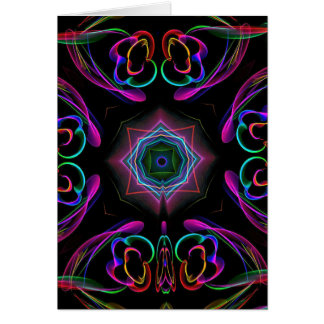 Vibrant Bright Colorful Neon Abstract Card