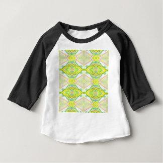 Vibrant Bright Lemon Lime Pastel Tribal Baby T-Shirt