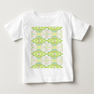 Vibrant Bright Lemon Lime Pastel Tribal Baby T-Shirt