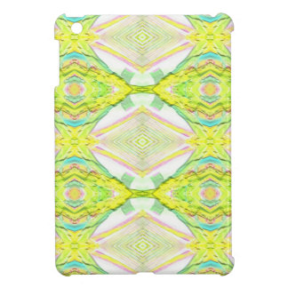 Vibrant Bright Lemon Lime Pastel Tribal Cover For The iPad Mini